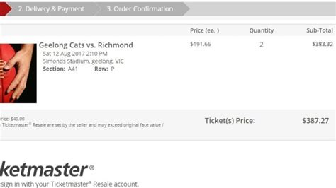 ticketmaster fan to fan resale geelong v richmond fans furious at inflated prices for