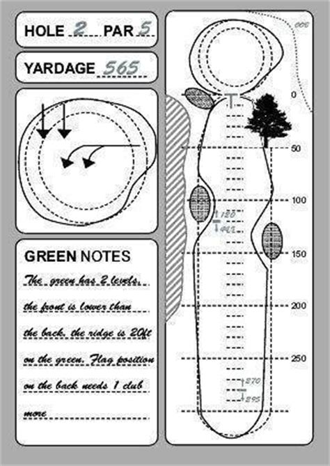 golf yardage book template course planner yardage chart course management course