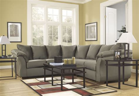 ashley darcy sectional darcy sage sectional from ashley 75003 55 56 coleman