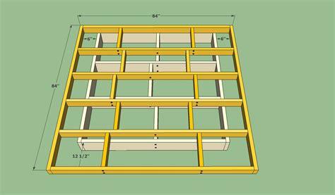 floating platform bed plans platform bed frame plans howtospecialist how to build