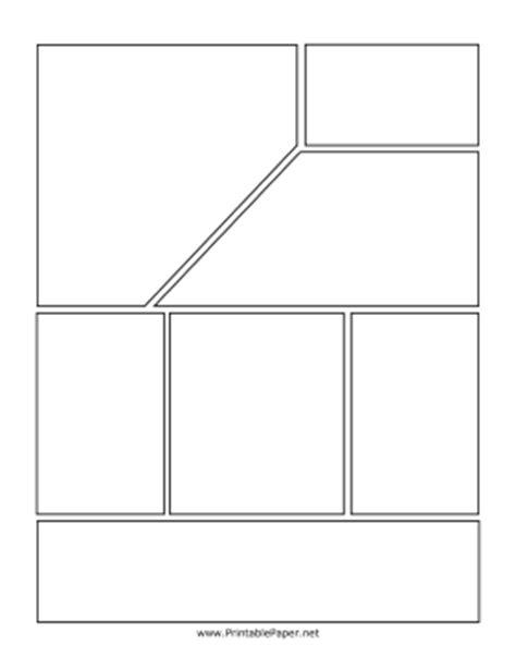 printable top angled comic page