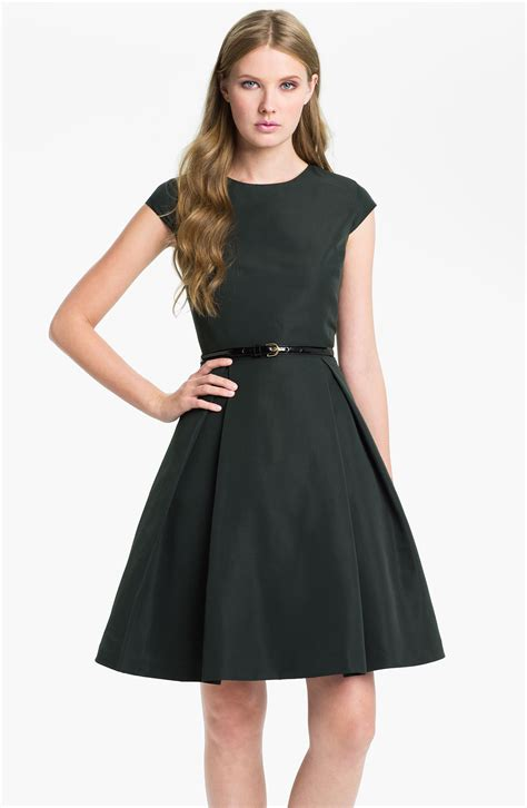 Green Flare Dress ted baker ladi fit flare dress in green green lyst
