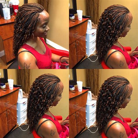 parting hair for micro braids micro braids with xpression hair yelp