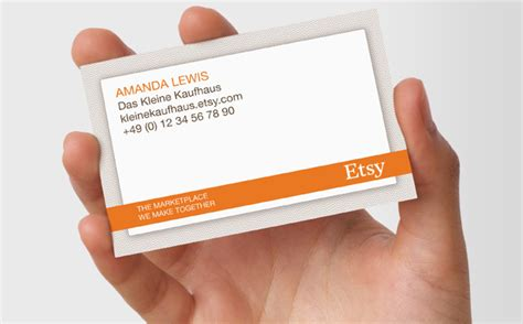 Etsy Seller Cards Business Cards Etsy Card Templates