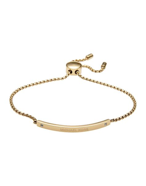 michael kors bracelet in metallic lyst