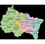Carte Du Grand Est  Des Villes D&233partements