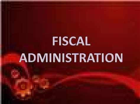fiscal administration fiscal mechanisms mfderamos