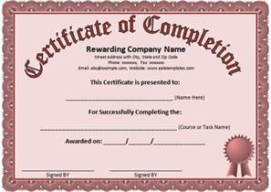Microsoft Word Certificate Of Completion Template Word Certificate Template 31 Free Download Samples