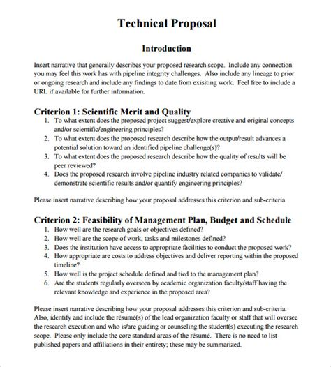 sample of financial proposal technical proposal template 7 download documents in psd