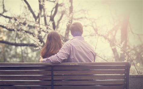 couple sitting on bench couple sitting bench wallpaper 2880x1800 27946