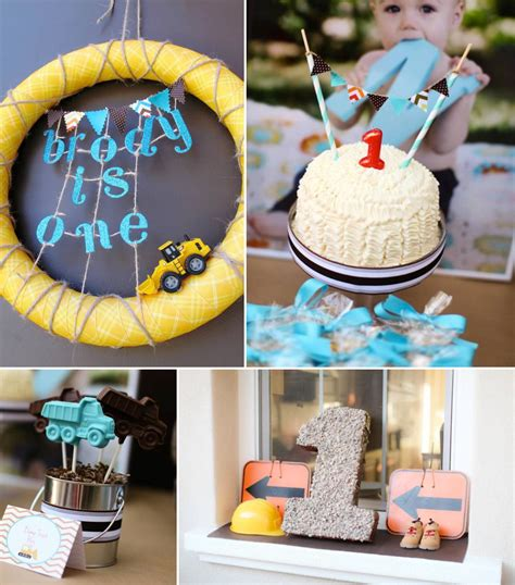 themed birthday party ideas construction truck themed 1st birthday party planning ideas