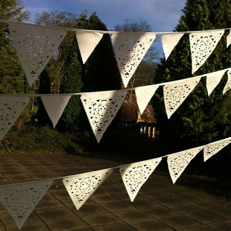 Outdoor Wedding Banner by Ivory Vintage Wedding Bunting Outdoor Wedding Decorations