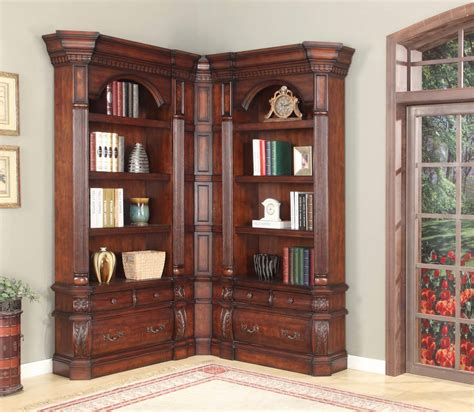 Corner Library Bookcase The Versailles Library Corner Bookcase Set 15361 Office Furniture Home Office Furniture Desks