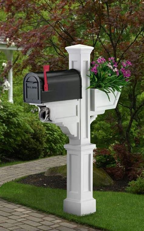 Classy Mailbox Post The Best Nest Pinterest Mailbox With Planter