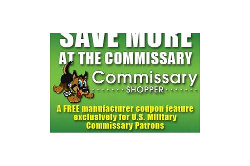 military coupons commissary
