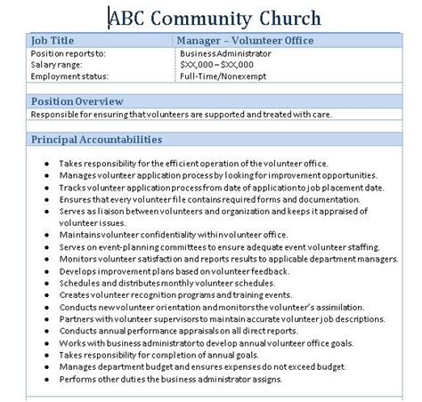 Office Assistant Job Description Resume by Sample Church Employee Job Description