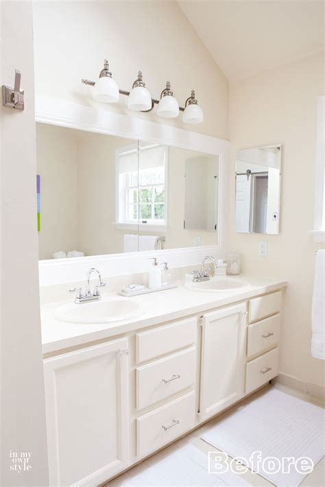 easy bathroom makeover ideas 8 bathroom cabinet feet in my own style
