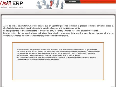 tutorial openerp wordpress tutorial ciclo de compra contra stock open erp 10 ppt