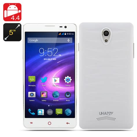 white 2 rom android wholesale uhappy up520 phone android 4 4 phone from china