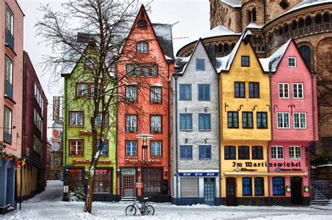 colored houses winter in cologne germany favorite places spaces