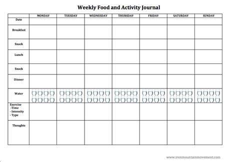 Printable Weekly Food Journal