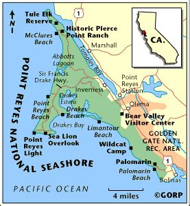 point reyes national seashore map point reyes national seashore marin county ca paint