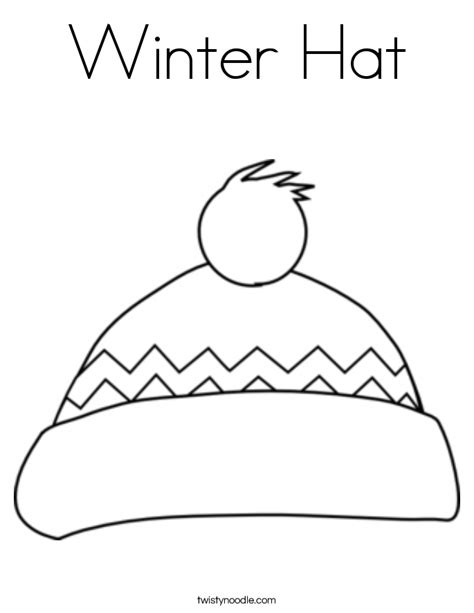 stocking hat coloring page winter hat coloring page twisty noodle