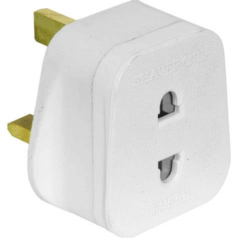 adapter for bathroom plug toothbrush mains plug adapter uk to 2 pin socket new ebay