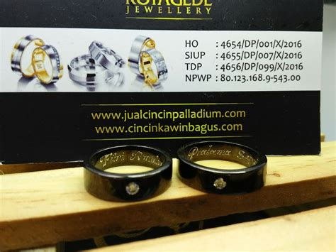 Cincin Kawin Bahan Palladium Emas Istimewa cincin kawin palladium p121bg jual cincin palladium