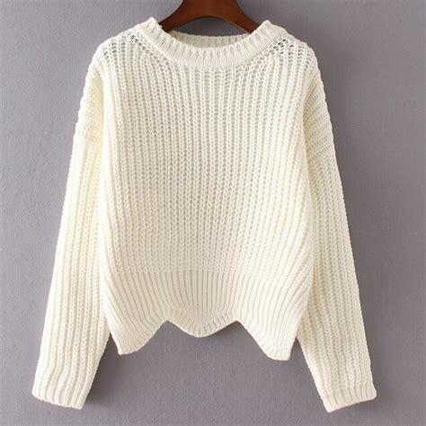 how to knit european style new 2016 autumn fashion o neck asymmetric sweater