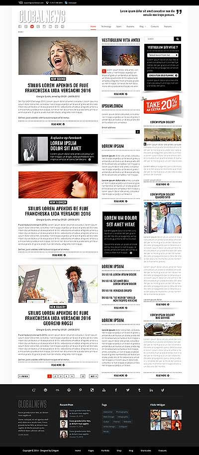 bootstrap templates for news html templates bootstrap templates themes
