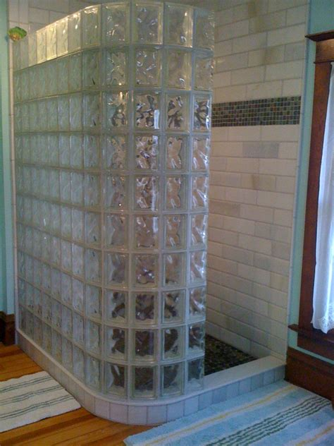 glass block bathroom shower ideas glass block shower wall walk in designs nationwide