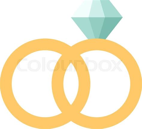 Wedding Ring Flat Design by Vector Wedding Rings Icon Flat Design Wedding Rings