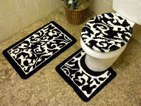 black and bathroom rugs black and white bathroom rug best decor things