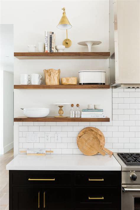 modern kitchen shelves modern mountain home studio mcgee