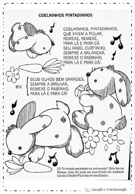 Música de Páscoa para imprimir: Coelhinhos Pintadinhos