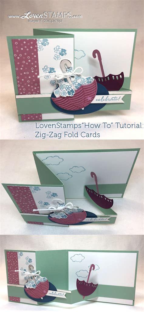 tutorial carding mailer umbrella of flowers how to make a zig zag pop up card