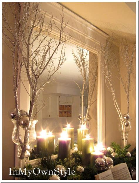 mantel decor my simple winter mantel lighted branches epsom salt and urn simple christmas decor diy projects craft ideas how to s