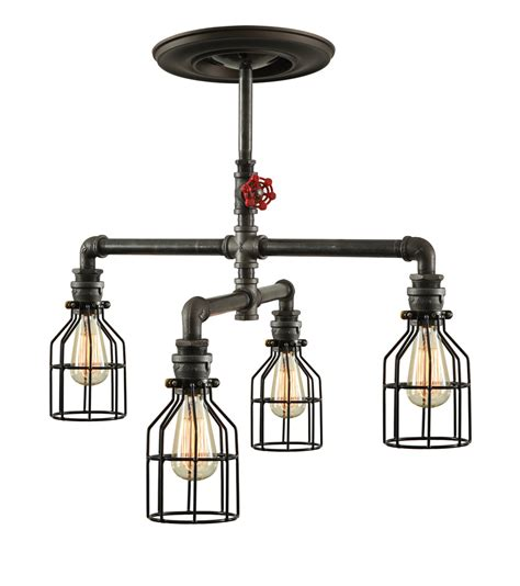 Industrial Ceiling Lights Steunk Industrial Ceiling Light Industrial Pipe Light