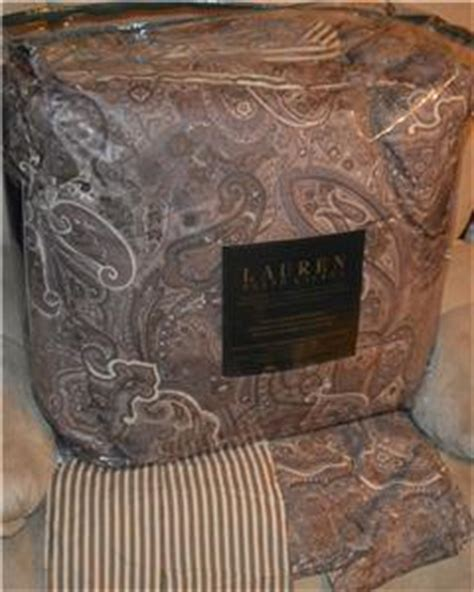 ralph lauren coral beach ralph coral brown camel paisley comforter set new 1st quality ebay