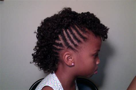 images of kids hair braiding in a mohalk mohawk natural black hair