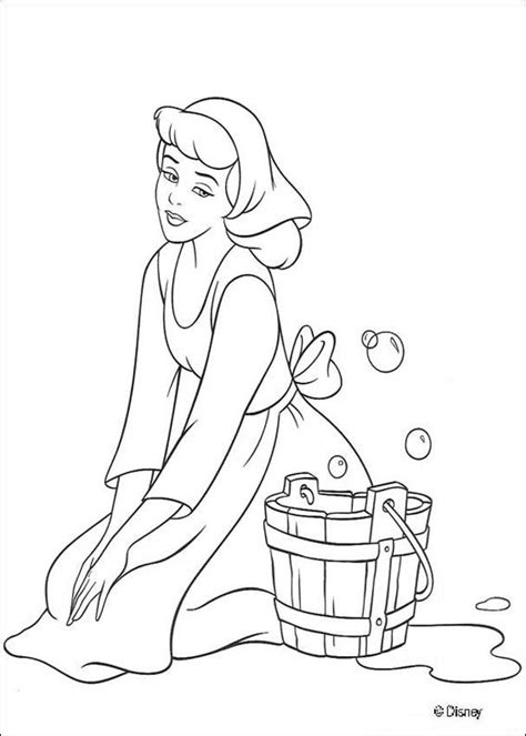 princess house coloring pages cinderella cleaning the house coloring pages hellokids