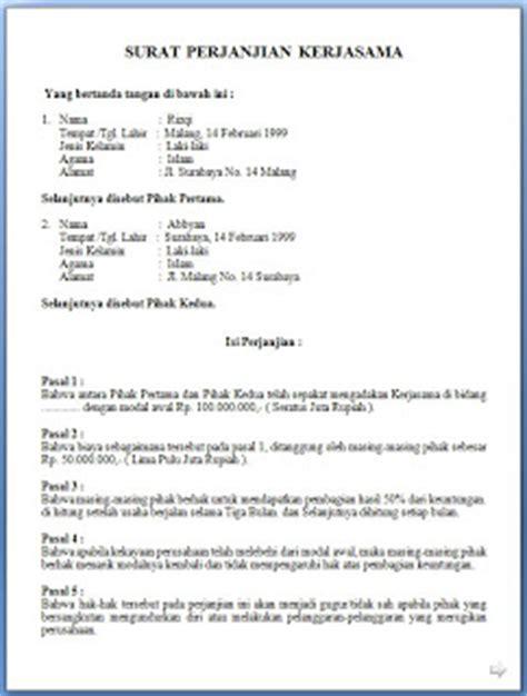 contoh surat perjanjian investasi review ebooks