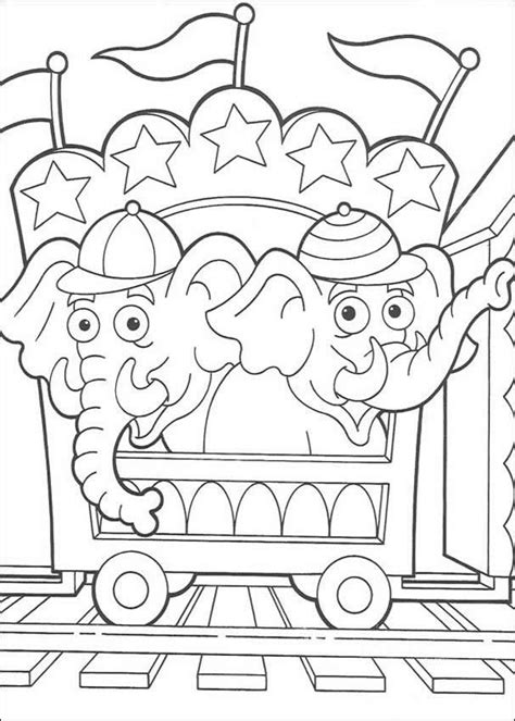 circus coloring pages preschool 253 best images about circus carnival carousel coloring on