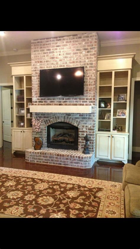 Best 25 Shelves Around Fireplace Ideas On Pinterest Ideas For Painting Brick Fireplaces