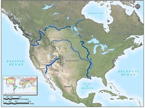 america rivers map file map america major rivers jpg glen