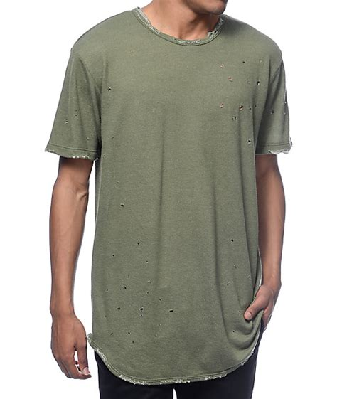 T Shirt Pdp eptm dubai og distressed olive t shirt at zumiez pdp