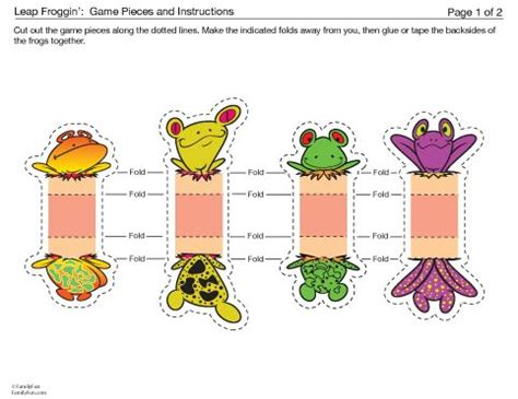 printable animal game pieces 49 best images about frogs on pinterest book frog