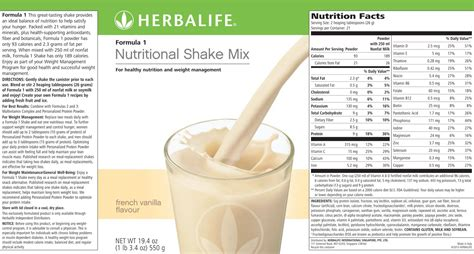1 protein shake calories herbalife nutrition facts shake nutrition ftempo
