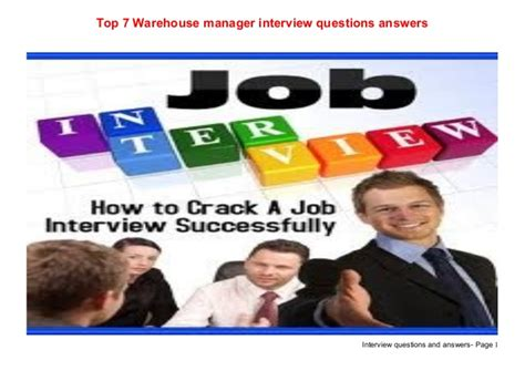 top 7 warehouse manager questions answers